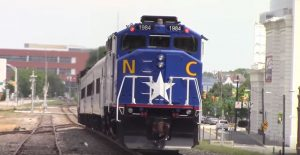 Train Leaving the Durham Station Hero Mold Company Durham, NC