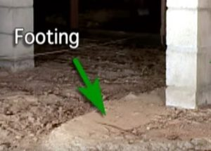 Footing under the Foundation Wall Hero Mold Company